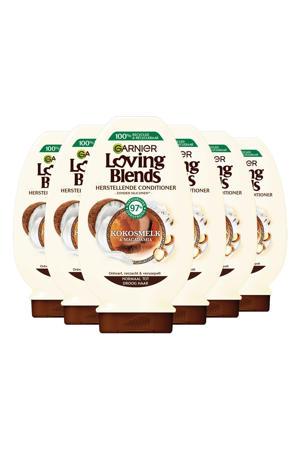 Loving Blends Kokosmelk en Macadamia conditioner - 6x 250ml multiverpakking