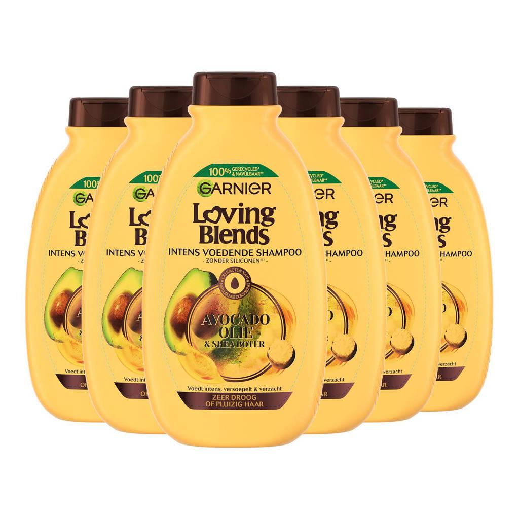 Garnier Loving Blends Avocado Olie & Karité Boter shampoo - 6x 300ml multiverpakking