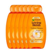 Garnier Loving Blends Argan & Cameliaolie shampoo - 6x 300ml multiverpakking
