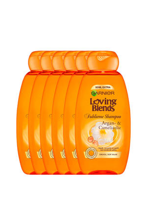 Argan & Cameliaolie shampoo - 6x 300ml multiverpakking