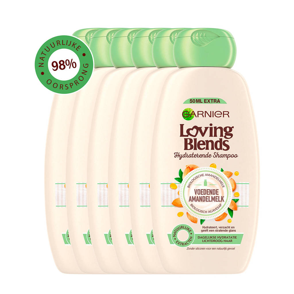 Garnier Loving Blends Voedende amandelmelk shampoo - 6x 300ml multiverpakking