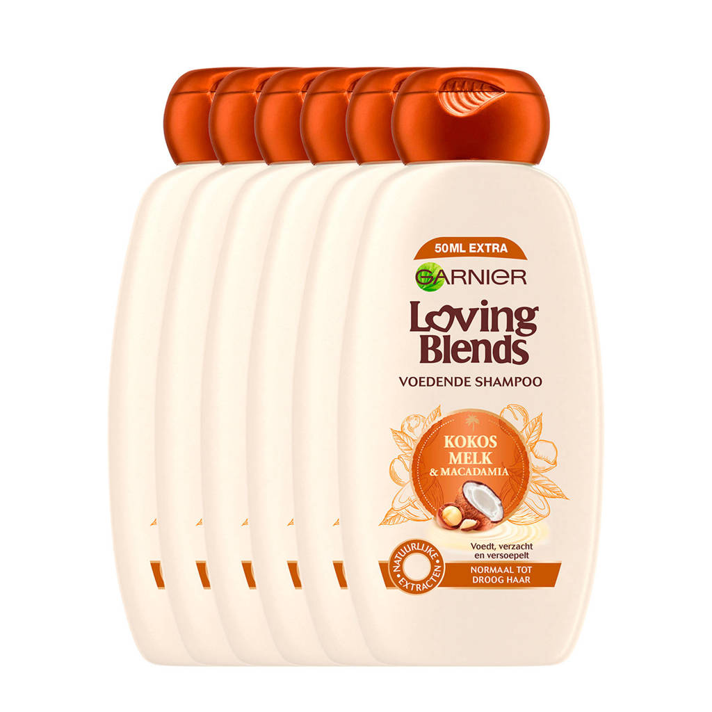Garnier Loving Blends Kokosmelk en Macadamia shampoo - 6x 300ml multiverpakking