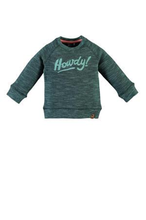 sweater met tekst groen mêlee