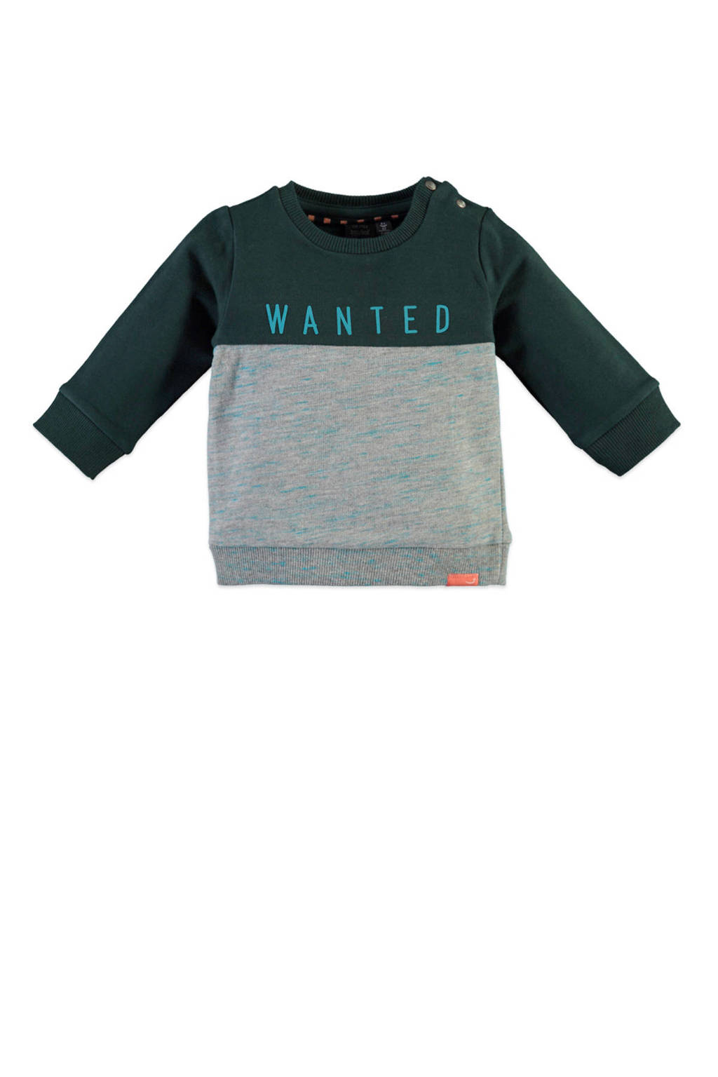Babyface sweater grijs/donkergroen/blauw, Grijs/donkergroen/blauw