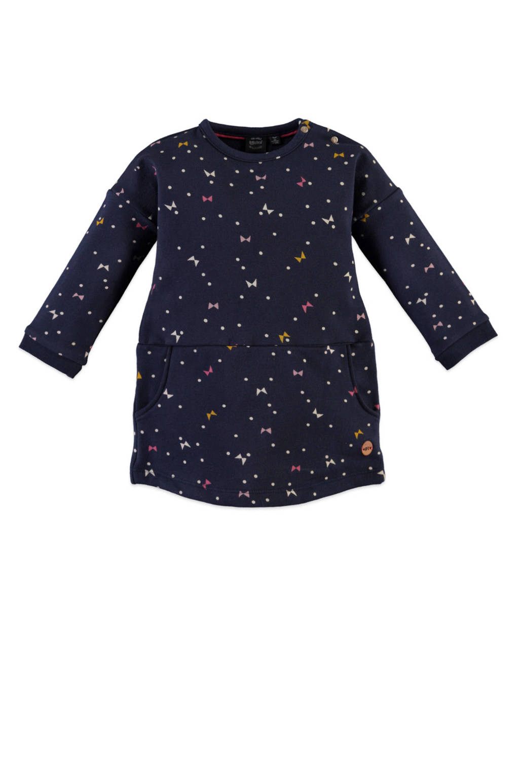Babyface jersey jurk met all over print donkerblauw, Donkerblauw