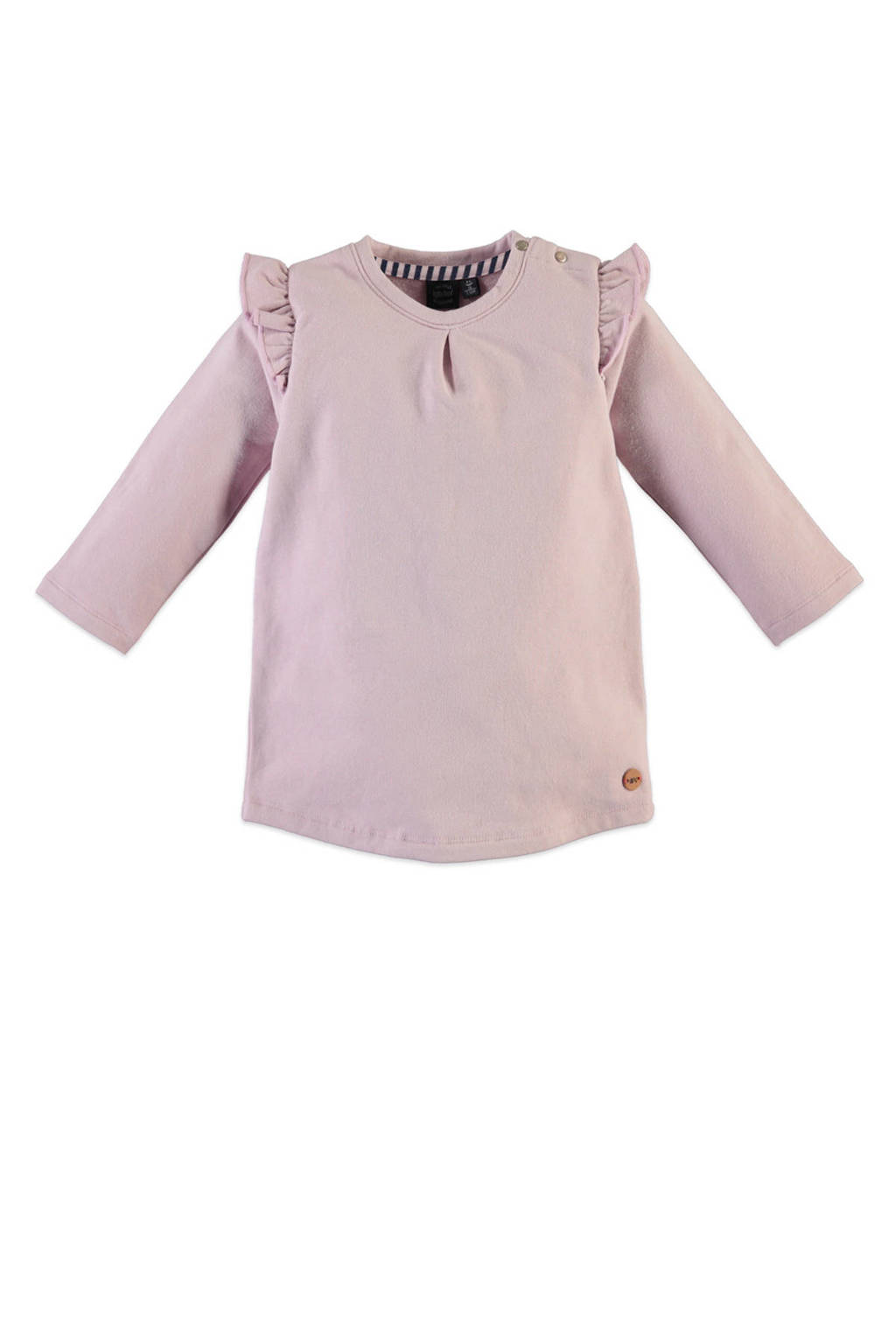 Babyface jersey jurk met ruches oudroze, Oudroze