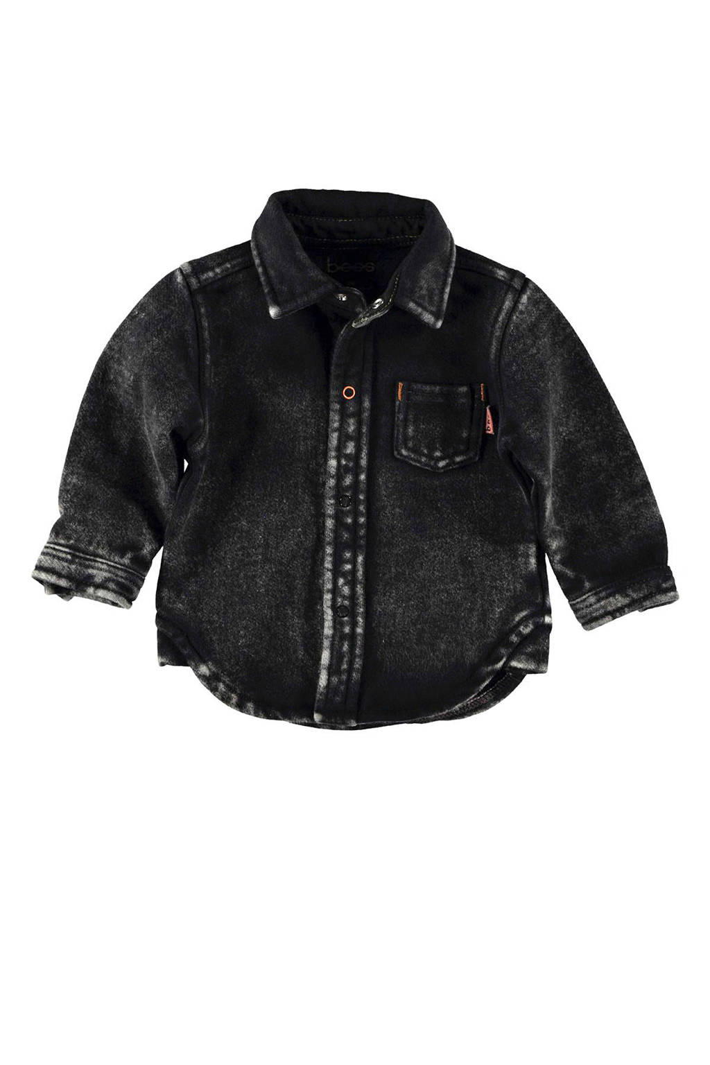 B.E.S.S baby overhemd zwart, Zwart