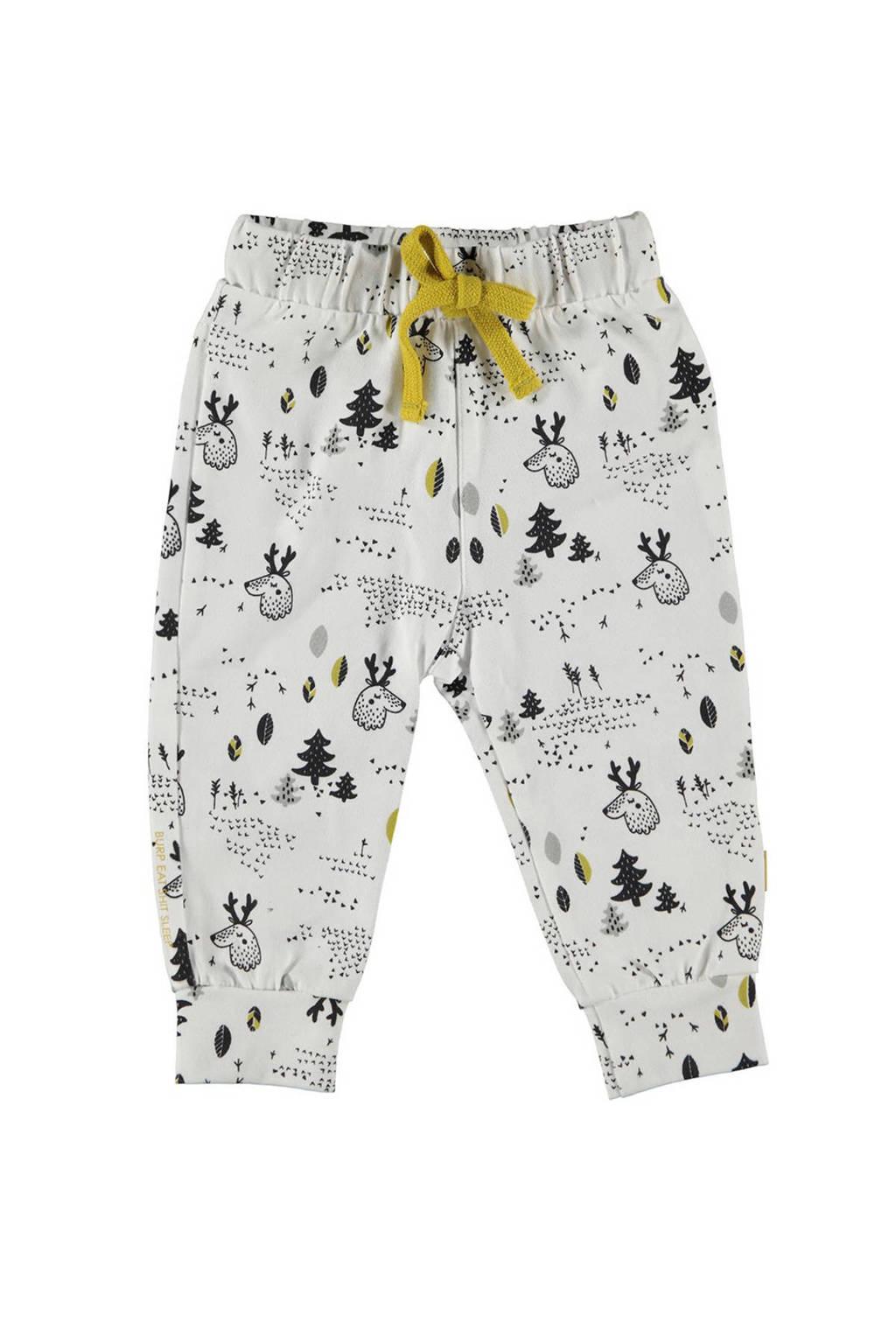B.E.S.S broek met all over print off white/ zwart/ okergeel/ grijs, Off white/ zwart/ okergeel/ grijs