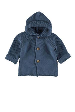 B.E.S.S baby vest met textuur vergrijsd blauw