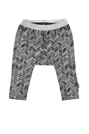 B.E.S.S baby legging met all over print zwart/grijs