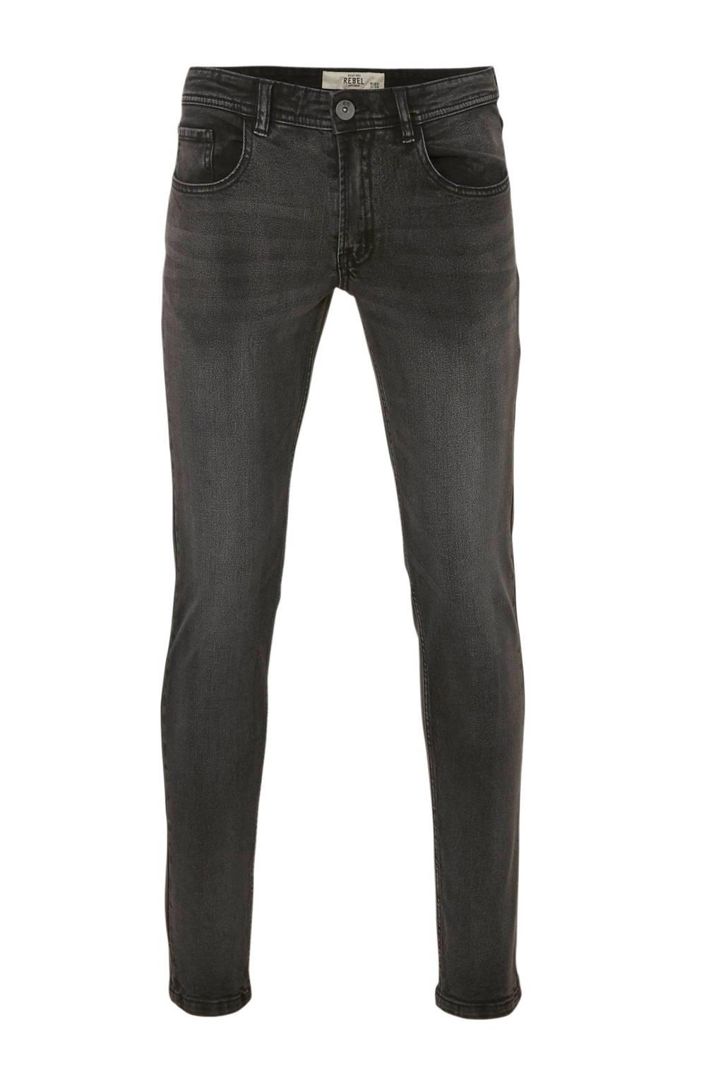 Redefined Rebel skinny jeans RR Copenhagen black rock, Black Rock