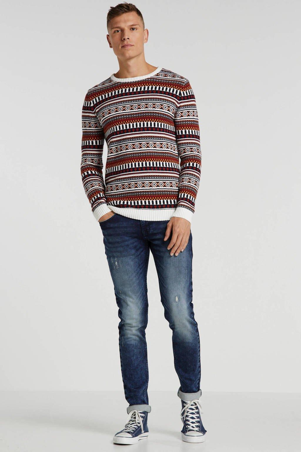 Redefined Rebel tapered fit jeans Stockholm Terry dark sea, Dark Sea