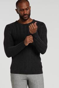 Redefined Rebel gemêleerde trui zwart, Zwart