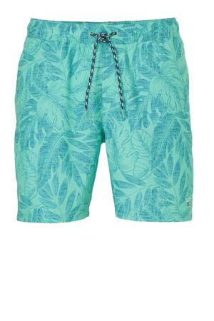 zwemshort met all over print groen