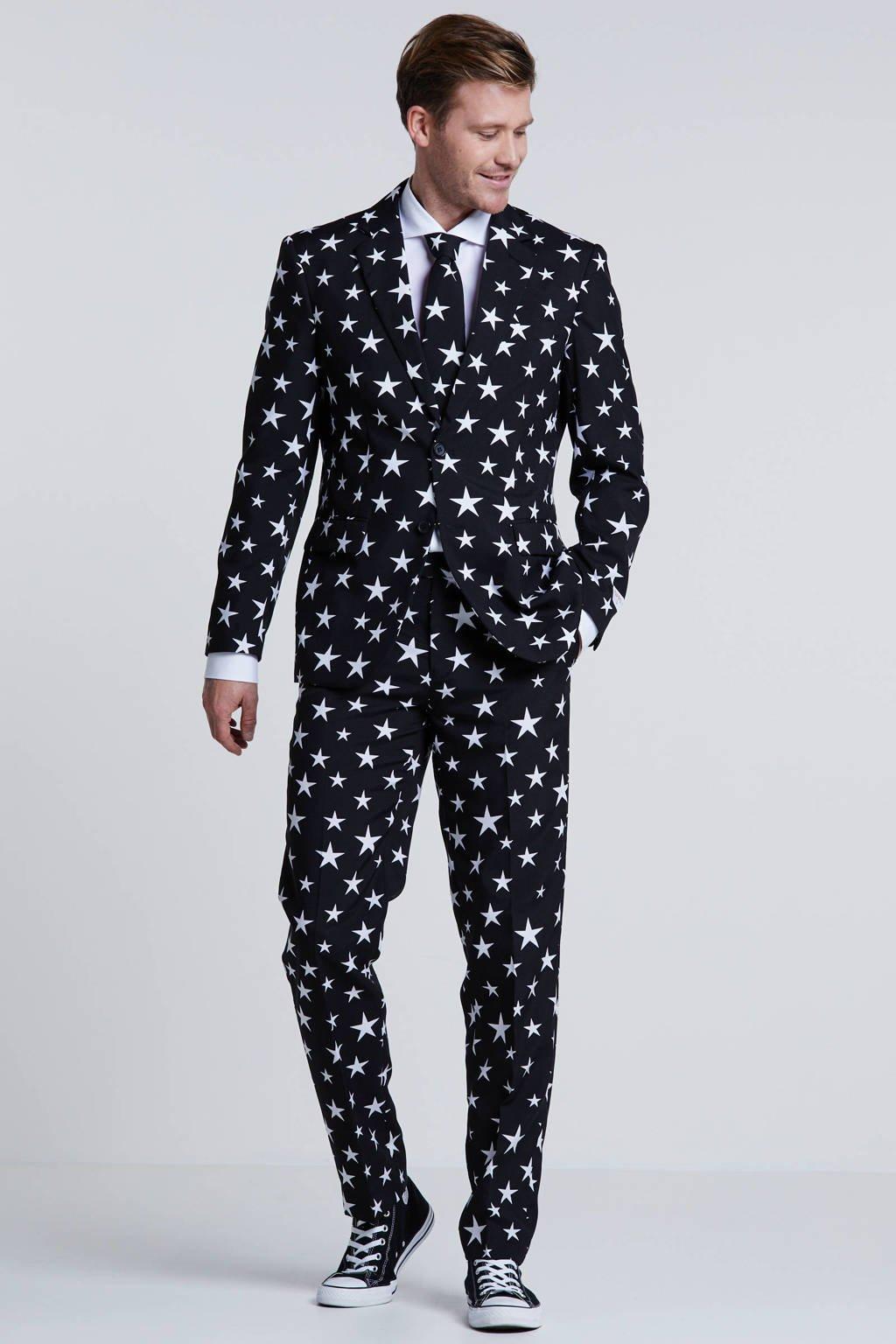 Opposuits kostuum Starstruck, Zwart/wit