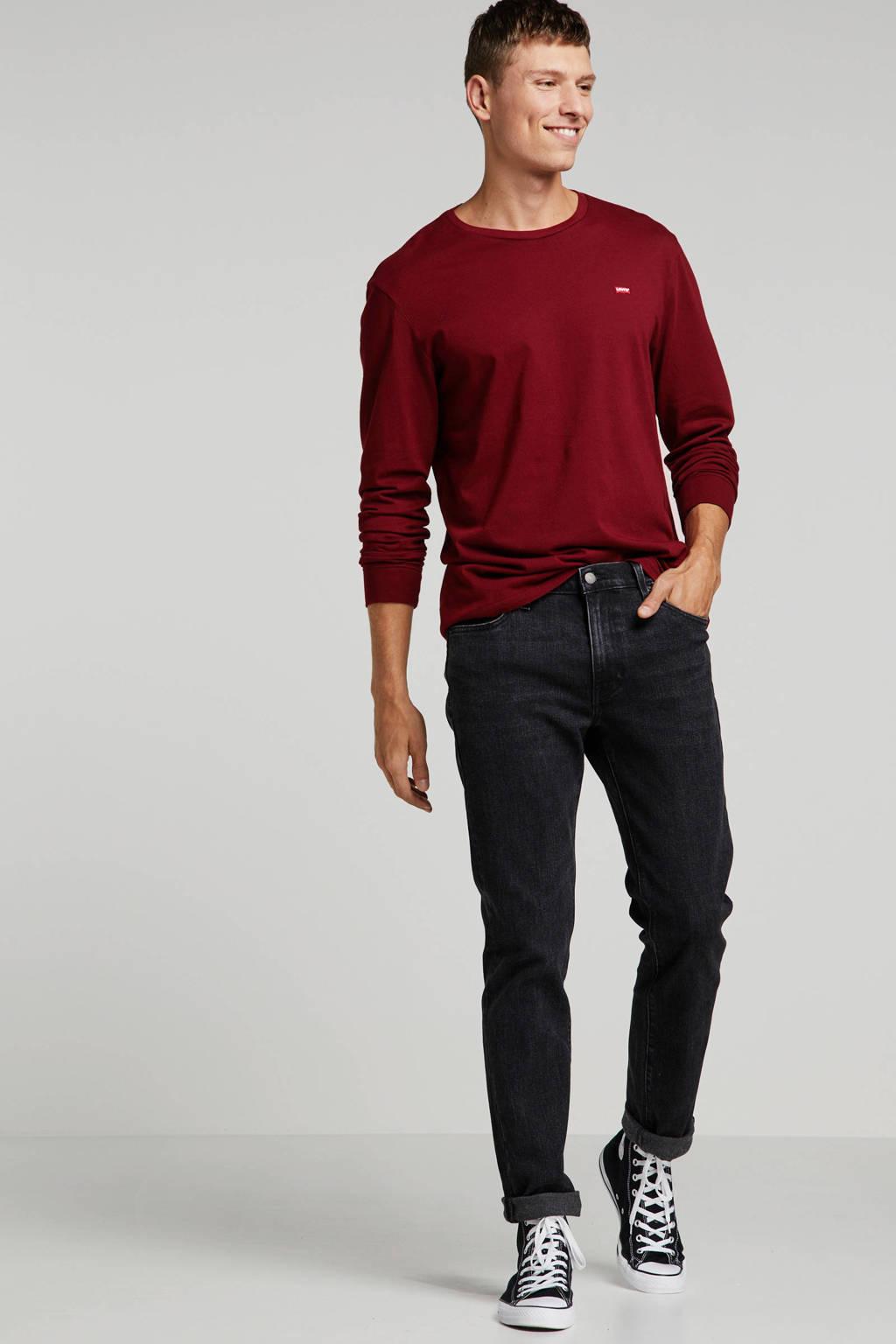 Levi's T-shirt donkerrood, Donkerrood