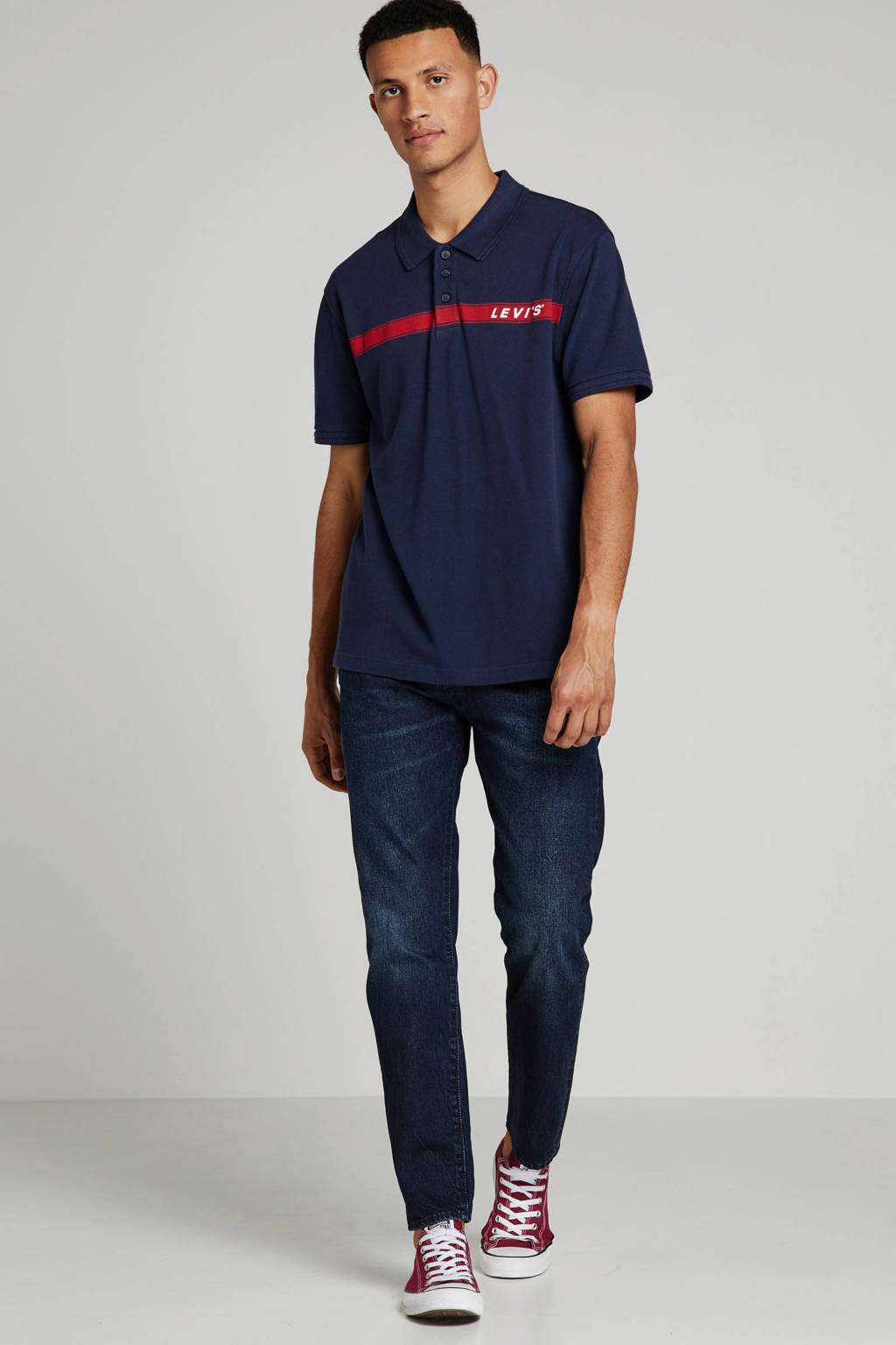 Levi's regular fit polo met logo donkerblauw, Donkerblauw