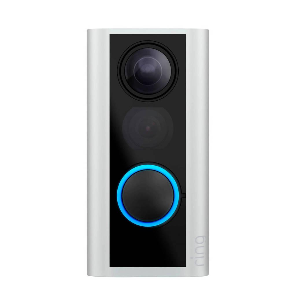 Ring IP camera Door View Cam deurspion, Zilver, Zwart