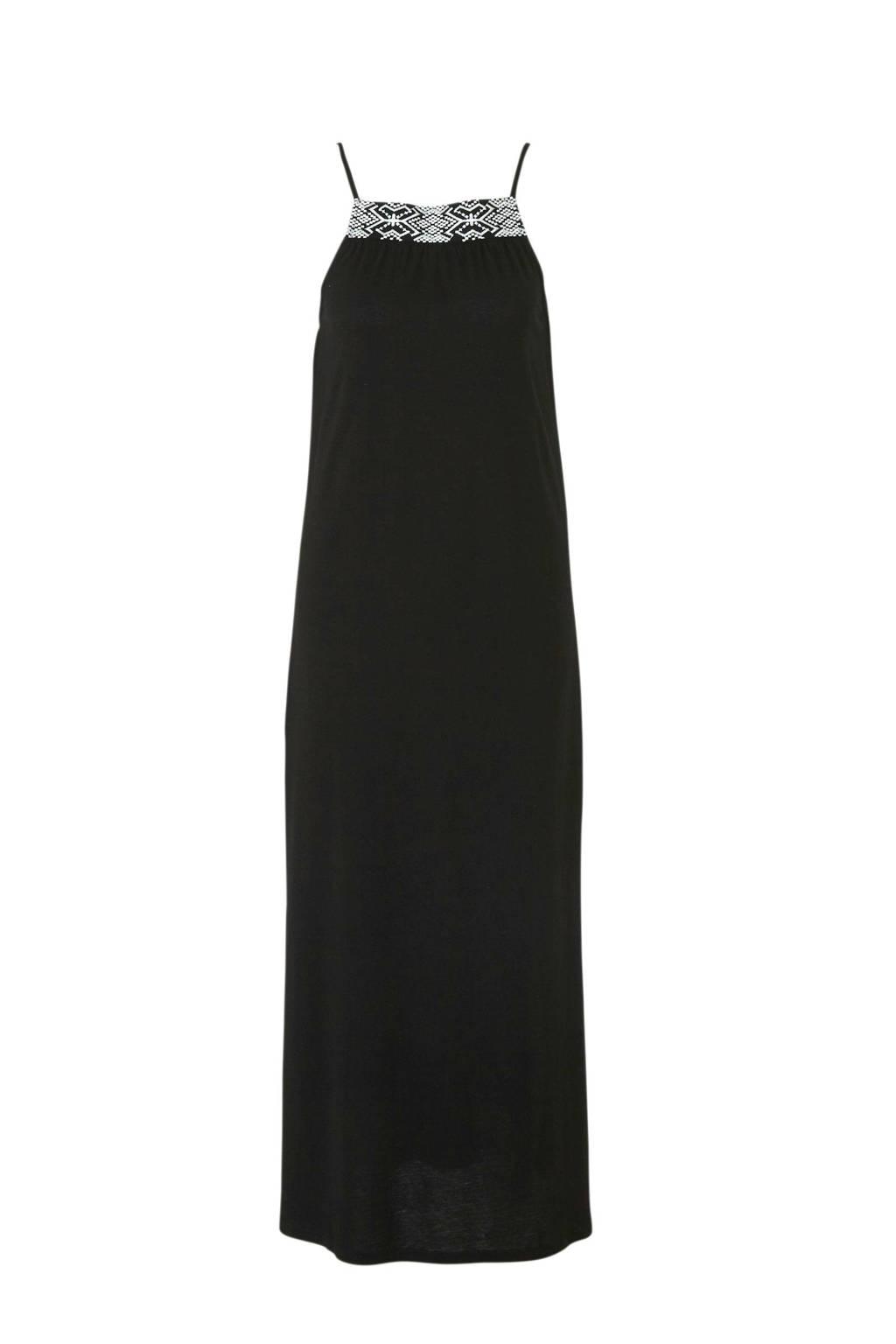 Mango jersey maxi jurk zwart, Zwart