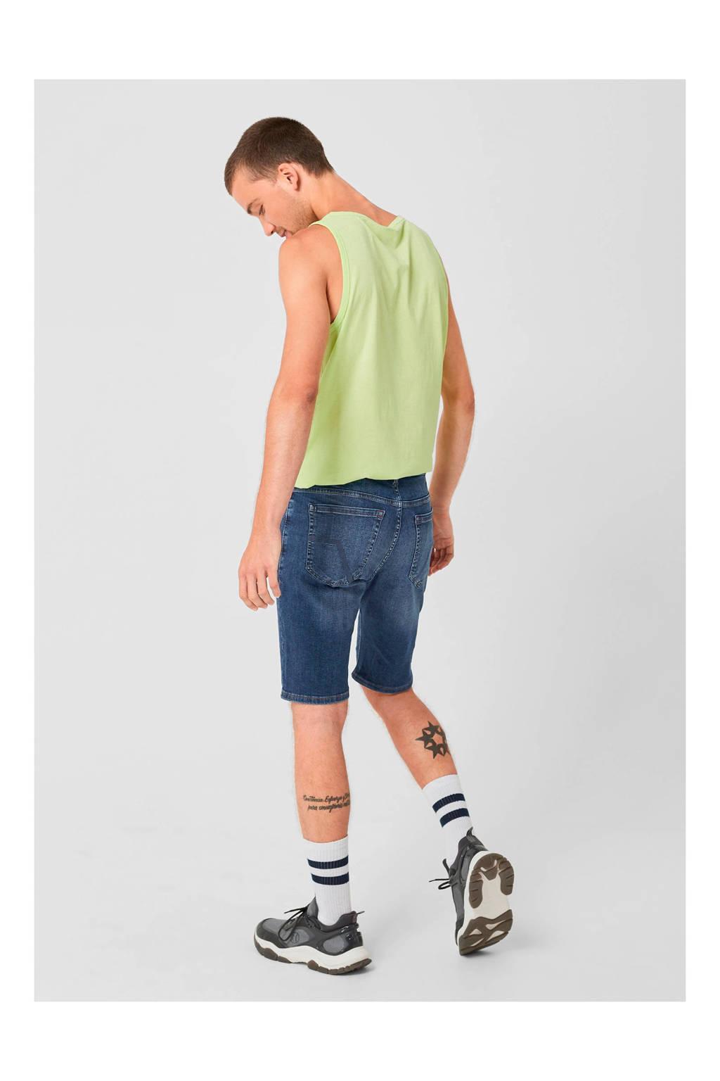 Q/S designed by regular fit jeans short, Blauw