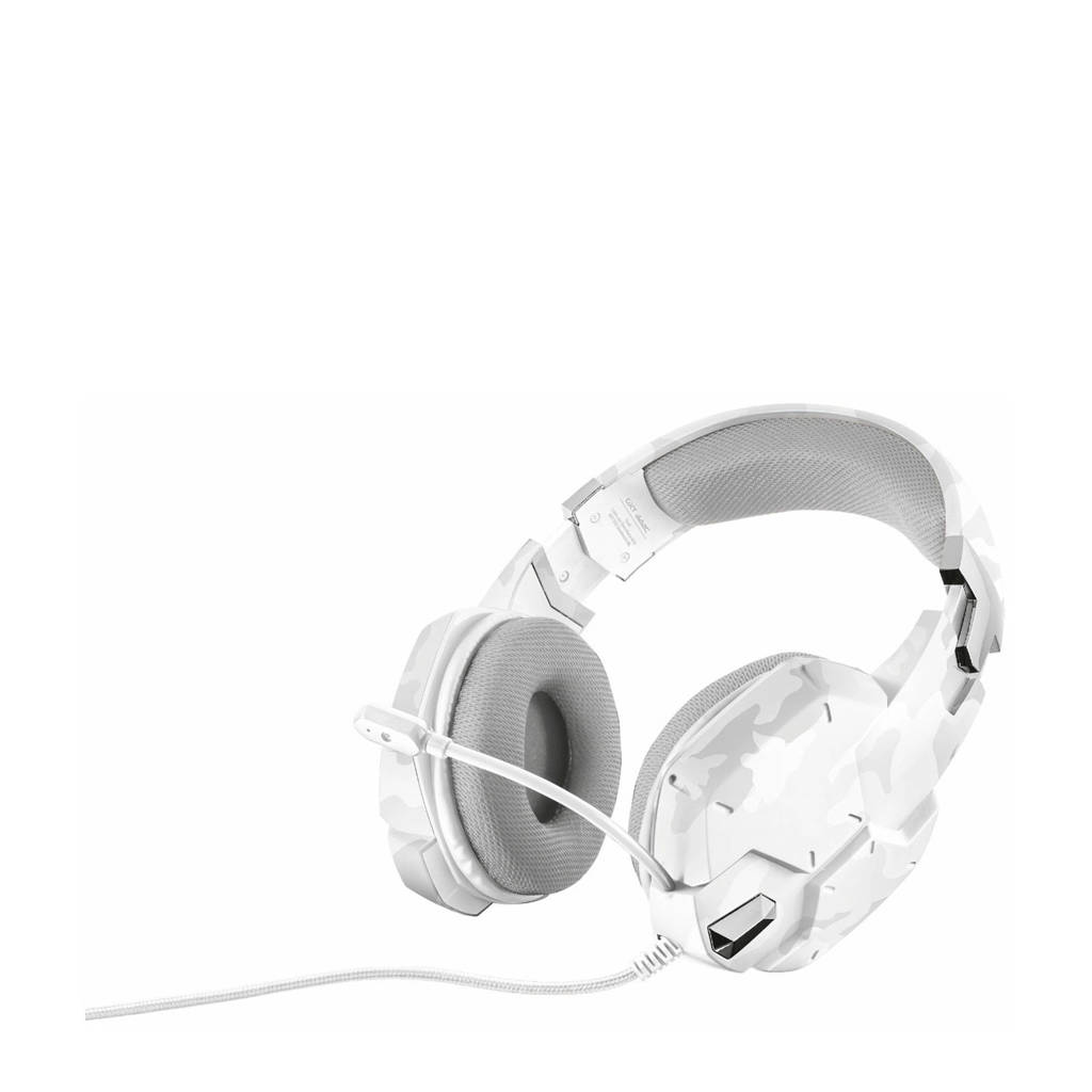 Trust  GXT 322C Carus gaming headset snow camo, Wit