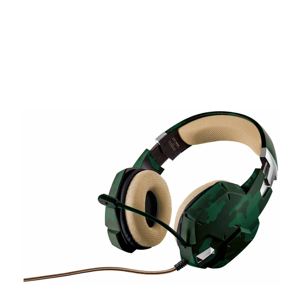 Trust  GXT 322C Carus gaming headset jungle camo, Groen