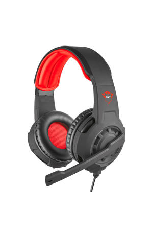Radius gaming headset zwart/rood