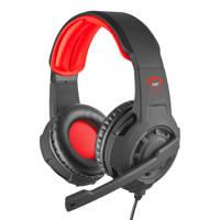 Trust  Radius gaming headset zwart/rood, Zwart, Rood