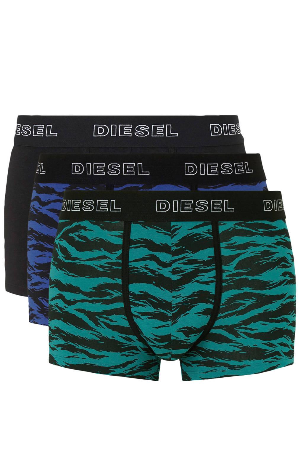 Diesel boxershort (set van 3), Zwart/groen/blauw