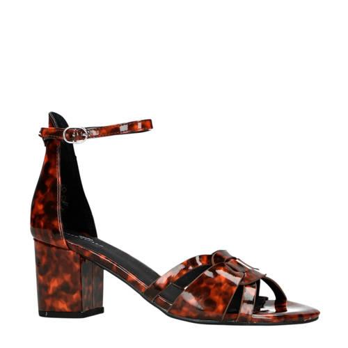 Sacha sandalettes bruin-zwart