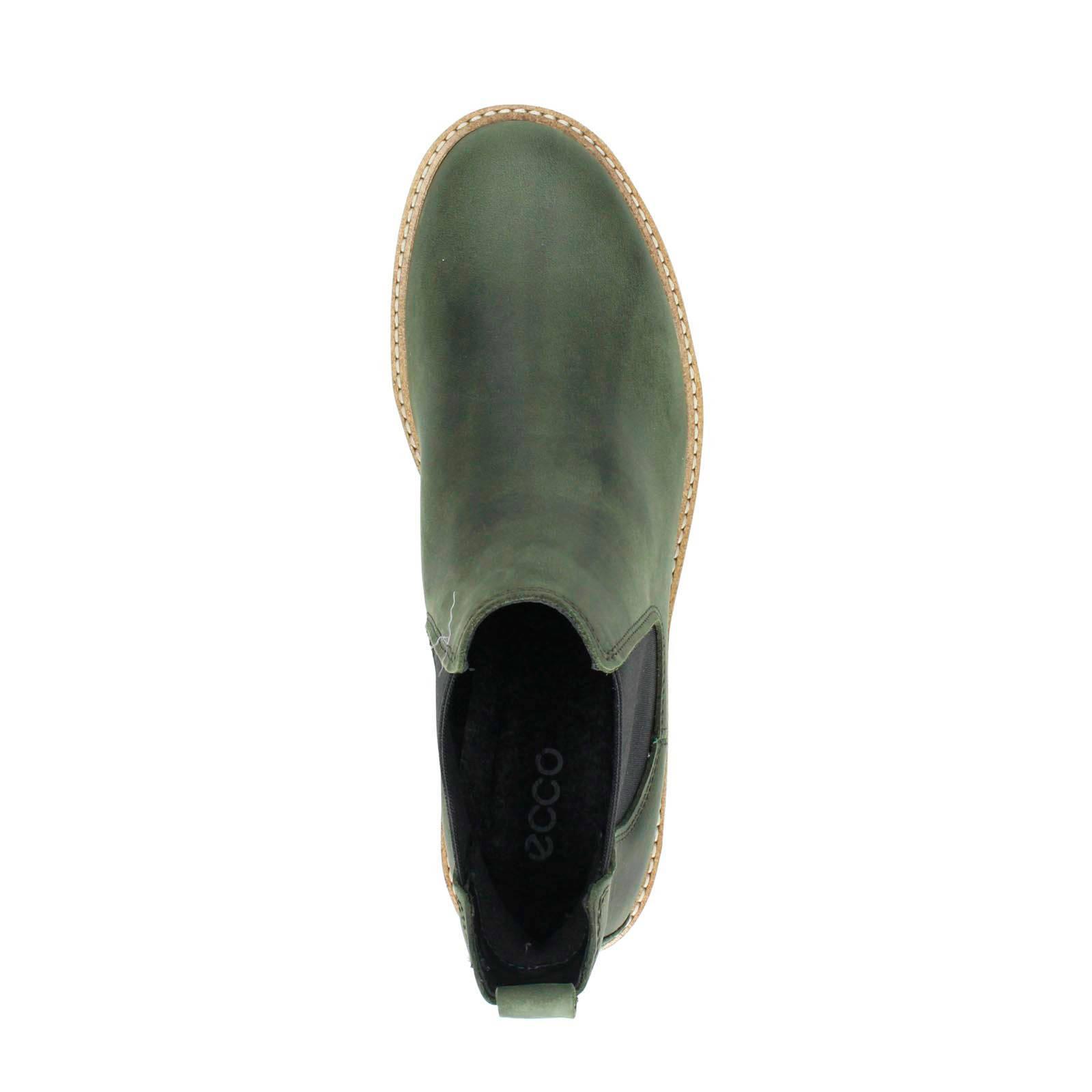 Ecco Elaine leren chelsea boots groen | wehkamp