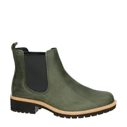 Ecco Elaine leren chelsea boots groen
