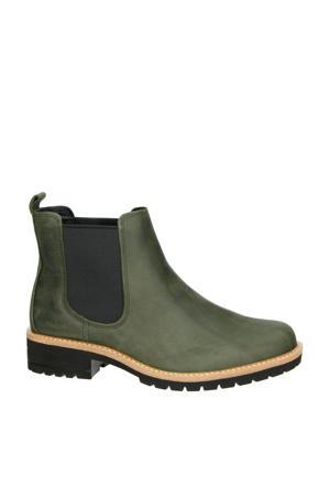 Elaine leren chelsea boots groen