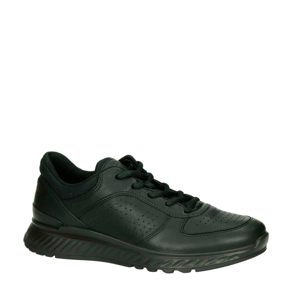 Ecco Exostride comfort leren sneakers zwart, Zwart