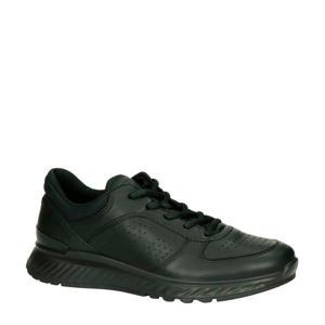 Exostride comfort leren sneakers zwart