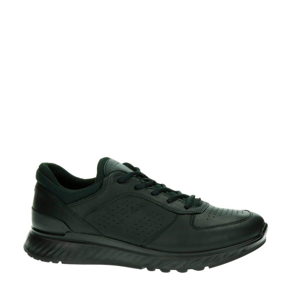 Ecco Exostride  leren sneakers zwart, Zwart