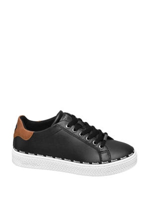 sneakers zwart/cognac