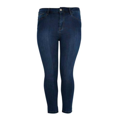 Yoek cropped skinny jeans blauw