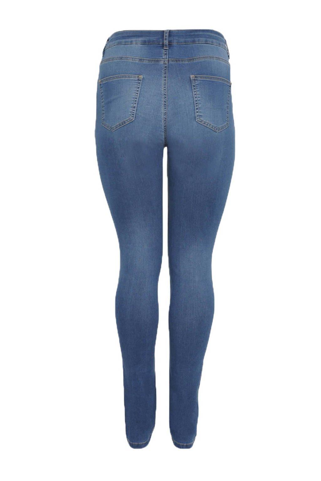 Yoek high waist skinny jeans, Lichtblauw