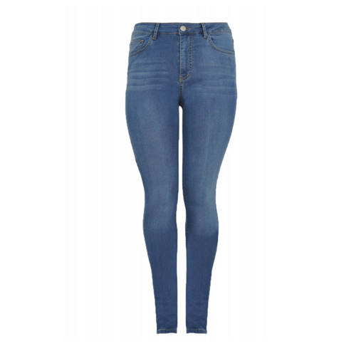 Yoek high waist skinny jeans lichtblauw
