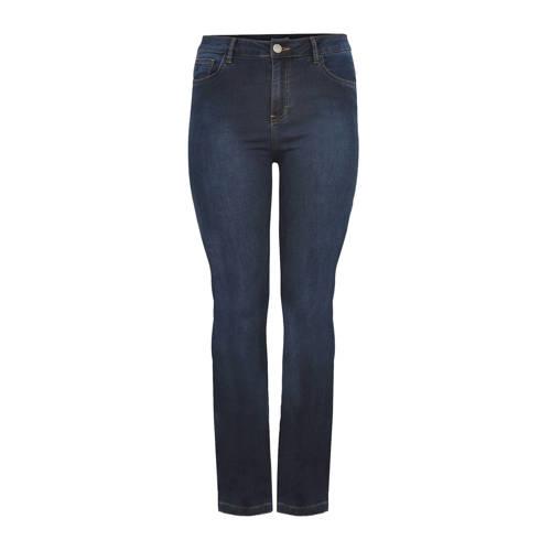 Yoek high waist straight fit jeans blauw