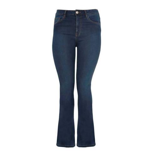 Yoek flared jeans blauw