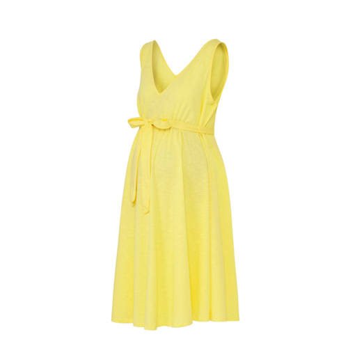 C&A Positiemode zwangerschapsjersey jurk geel