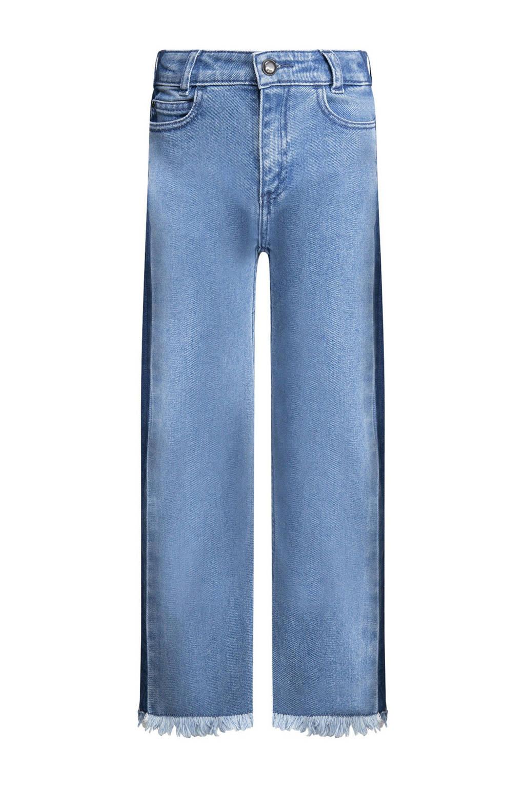CKS KIDS cropped high waist loose fit jeans Ziula met zijstreep light denim, Light denim