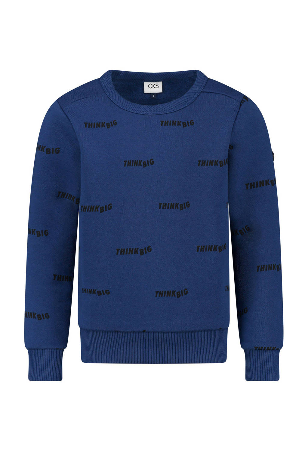 CKS KIDS sweater Brammon met all over print blauw, Blauw