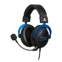 HyperX  Cloud gaming headset PS4, Zwart, Blauw