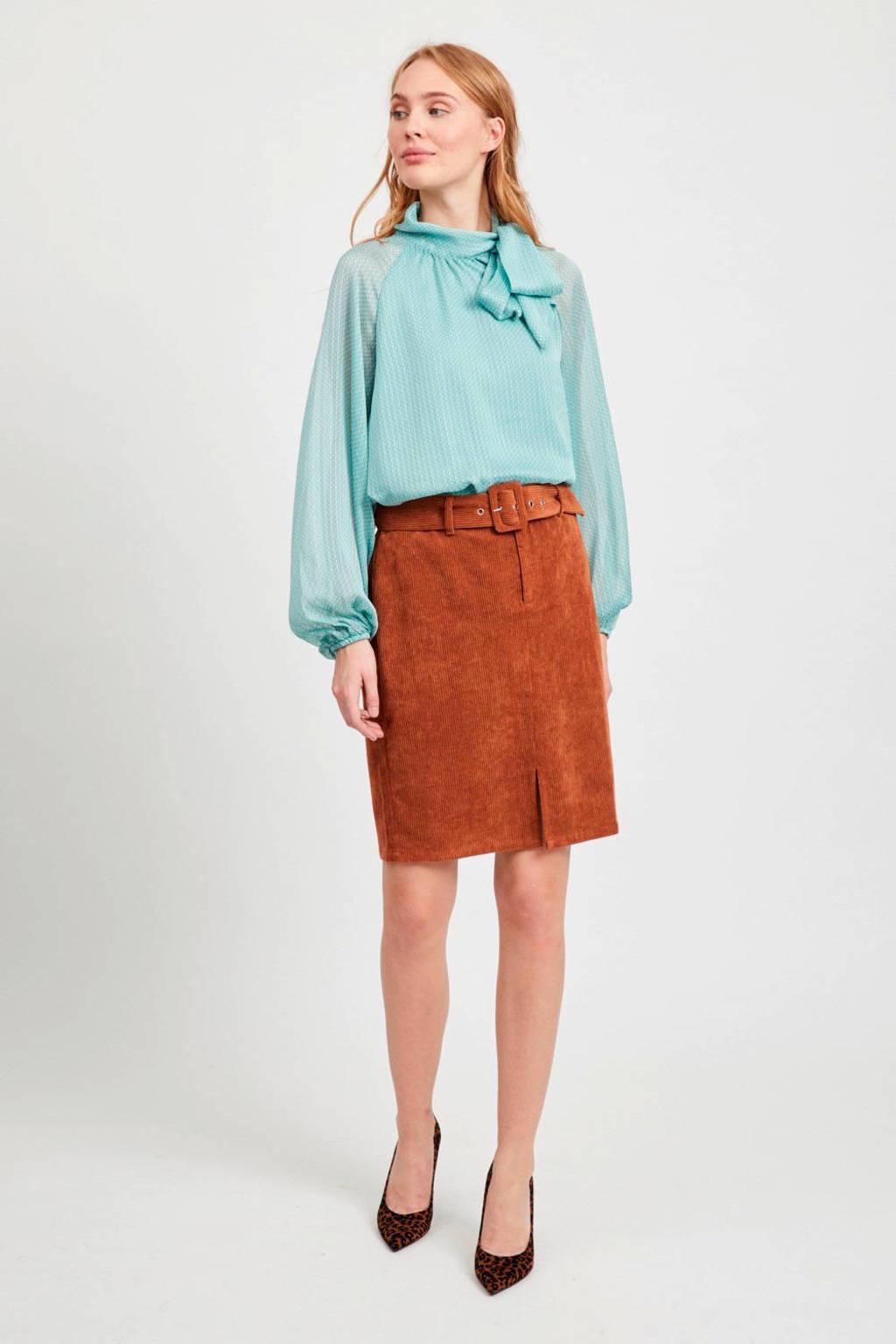 VILA blouse turquoise, Turquoise
