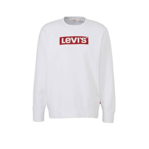 Levi's sweater met logo wit/rood