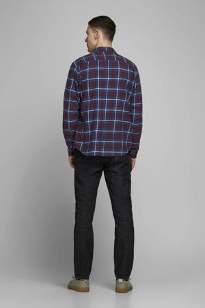 geruit slim fit overhemd rood/blauw/wit