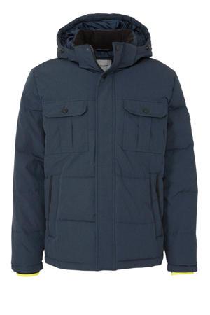winterjas donkerblauw
